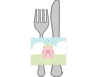 50% Off Sale! - PRINTABLE Princess Party Napkin Wraps - INSTANT DOWNLOAD
