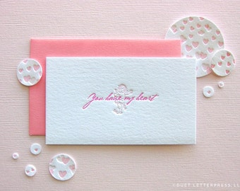 letterpress valentine's tag