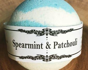 Spearmint & Patchouli Handmade, Artisan, Bath Bomb