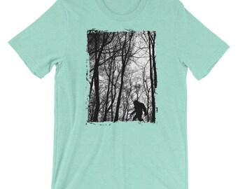 Bigfoot in the Forest Shirt Sasquatch Gorilla American Black Bear T-shirt