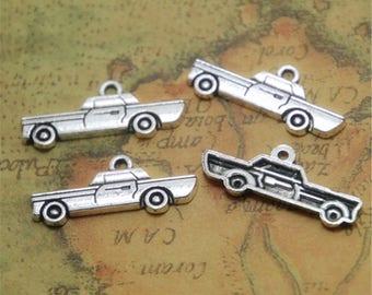 25pcs Car charms silver tone car Charm Pendants 28x12mm ASD0274