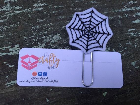 Spider Web Planner Clip/Paper Clip/Feltie Clip. Coffee Planner Clip. Halloween Planner Clip. Autumn/Fall Planner Clip