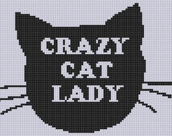 Crazy Cat Lady Cross Stitch Pattern