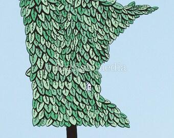 MN Grown - Summer   Minnesota Tree Screenprint Poster