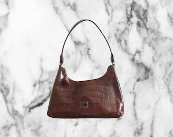 90s Dooney & Burke Hobo Leather Handbag