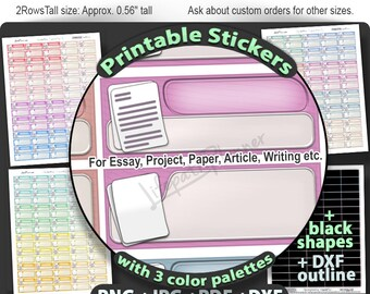 Printable College stickers Homework Stickers to use in Erin Condren Planner Stickers Printable school stickers school planner stickers box