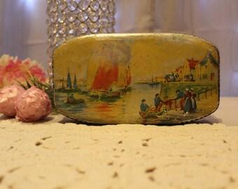 Rare Allen's Medal Toffee Litho Tin,Tea Tin,Cookie Tin,Chocolate Tin,Collectible Tins,Antique Tins,Vintage Tin,Victorian Tins,Asian Tins