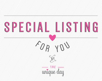 SPECIAL LISTINGS