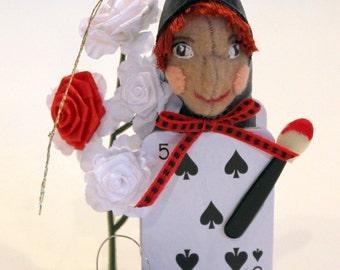 "Queen of Heart's Gardener from Alice in Wonderland.      Approx 5.125"" tall &1 1/8 oz weight."