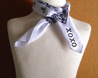 TRENDING! Customized kercheif bandana.  Cutie and xoxo monogram