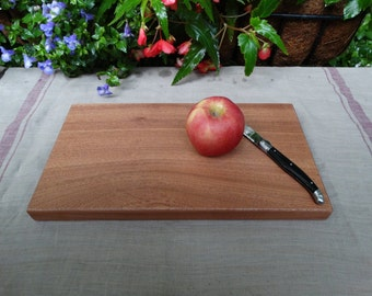 Mahogany cutting board - natural wood cutting board