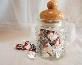 Mothers Day gift, for women,  Jar, glass jar, utility jar with hand turned berangan wood lid, wood lidded jar