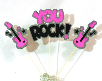 You Rock / Guitar Centerpieces - Perfect for Birthdays and Other Parties