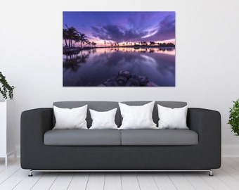 Palm Tree Sunset Reflections Photo Print | Wall Art | Nature and Landscape Photography | (5x7, 8x10, 12x18, 16x24, 20x30, 24x36, 40x60)