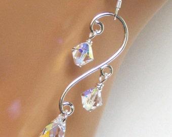 Wedding Jewelry, Wedding Earrings, Bridal Earrings, Bridal Jewelry, Crystal Earrings, Bridesmaids Gifts