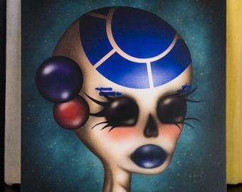 6 X 6 R2D2 Skull