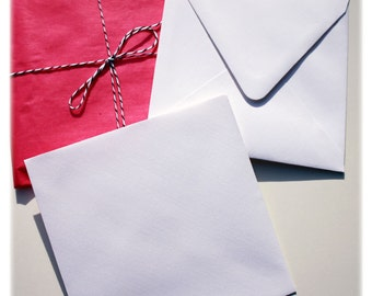 10 linen envelopes - white