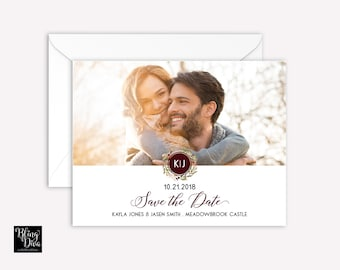 Mod Monogram Save the Date Custom Print
