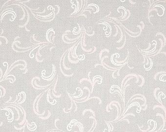 Andover Downton Abbey Celebrations Metallic Brocade Flourish Grey and Pink  7870 MC