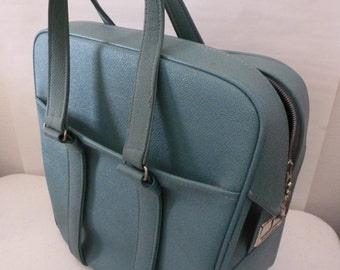 Vintage Samsonite Carry-On Luggage Overnight Suitcase Silhouette Bag Blue