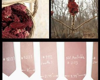 Sumac berry,cedar dust,redwood,suede deep rose blush tie,deep pink brown ties,dusty blush rose,groomsmen,men,deep dusty blush Autumn wedding