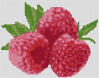 Raspberries - Modern Counted Cross Stitch Kit