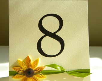 Set of 16 Sunflower table number