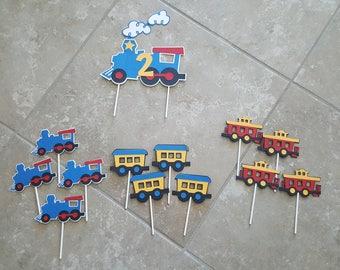 Choo Choo Train Cake Topper and Cupcake Toppers