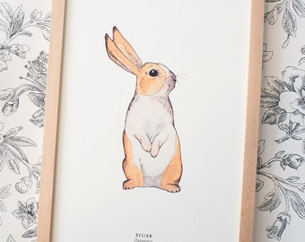 Printable art Bunny Print