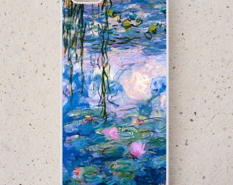 iPhone Cover(all models) - Waterlilies - Monet - smartphone - Mobile - Famous Art - Samsung Galaxy S3 S4 S4 S5 S6 S7 S8 mini,  & more