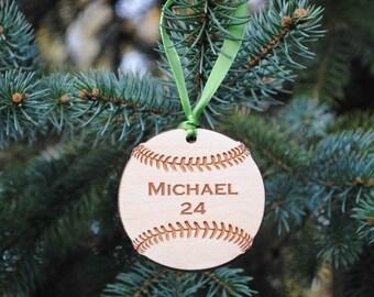 Personalized Baseball Ornament Softball Ornament