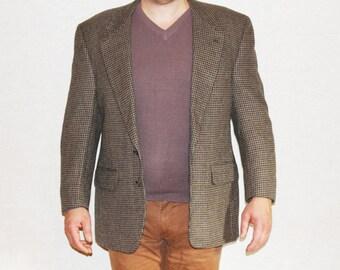Vintage BURBERRY wool jacket Burberrys wool blazer PURE WOOL Vintage Burberry mens jacket Burberry sports coat Vintage mens sport jacket