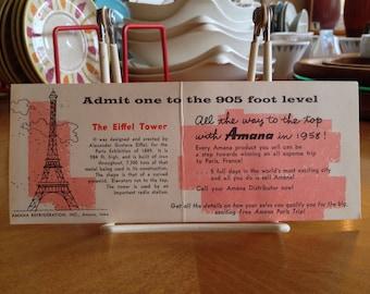 Amana Salesman Eiffel Tower Contest Leaflet
