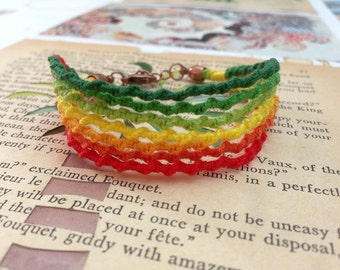 Rainbow chinese staircase friendship bracelet