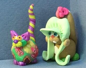 Calendar Cats, MAY  - Gardener Cat or Mayflower Cat