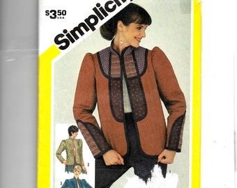 Simplicity Misses' Set of Pre-Quilted or Self-Quilted Jacket Pattern 5757