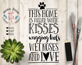 Pets Cut File in SVG, DXF, PNG, Pets Printable, Home Pet svg, Home Decor Printable, Housewarming cutting file, Housewarming Printable