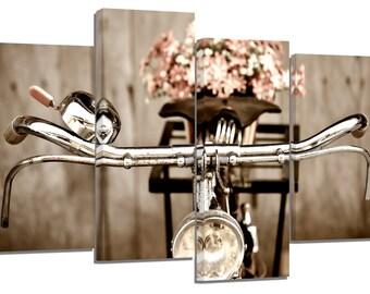 Retro bicycle/ photography / set of 4 canvas prints /32x20