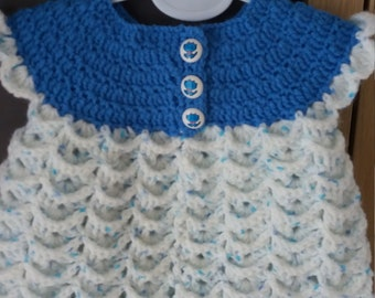 Handmade crotched baby romper suit