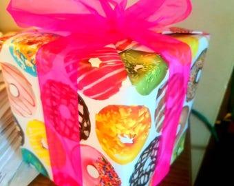 Gift Wrap for Felt Donut Garland