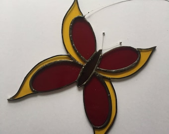 Stained glass butterfly sun-catcher