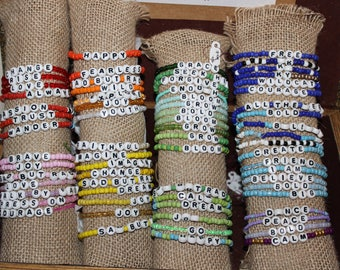 Word Bracelets (not personalized)