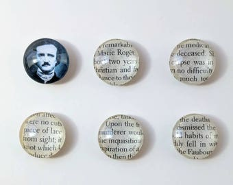 Magnets | Edgar Allan Poe | Set of 6