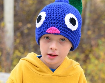 Blue Pikmin Hat, 2T - Adult, Crochet By Allie