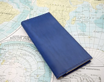 Reclaimed Leather Checkbook cover with plastic insert sleeve