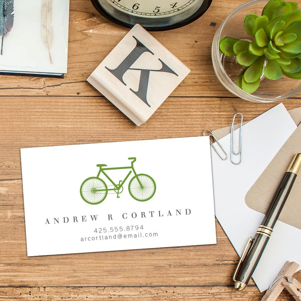 Bicycle Calling Card, Business Cards, Set of 50 Cards, Set of 100 ...