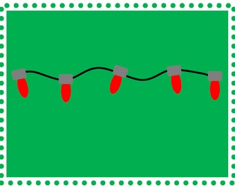 Christmas Lights Print, Christmas Lights Wall Decor