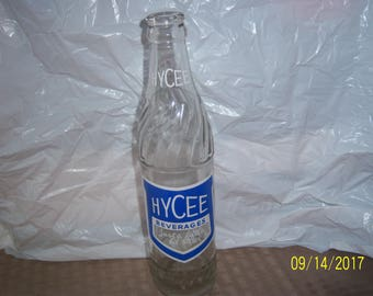 """1960 Hycee Bottling Co Macon Ga 10 oz clear acl painted label soda bottle 9 1/4"""" tall"""