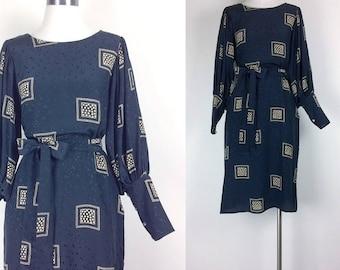 vintage silk dress argenti sulk dress women's size S