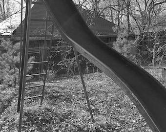 Abandoned slide at asylum